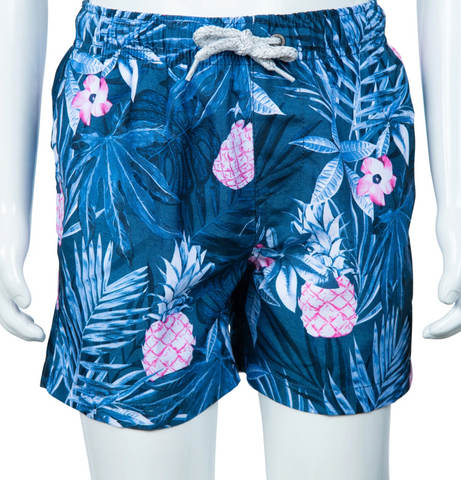 Volley - Vintage Summer Boys Tropical Pineapple Swim Short