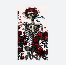 Load image into Gallery viewer, Slowtide Skull & Roses Towel