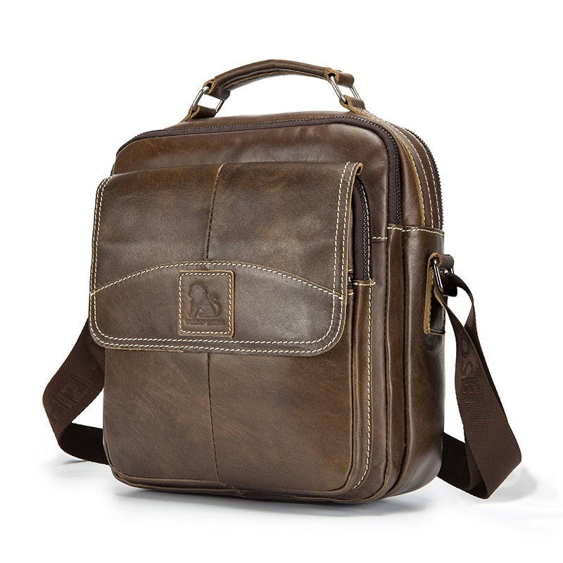 Leather Men Shoulder Bag