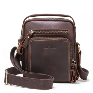Men Cow Leather Shoulder Messenger Bags