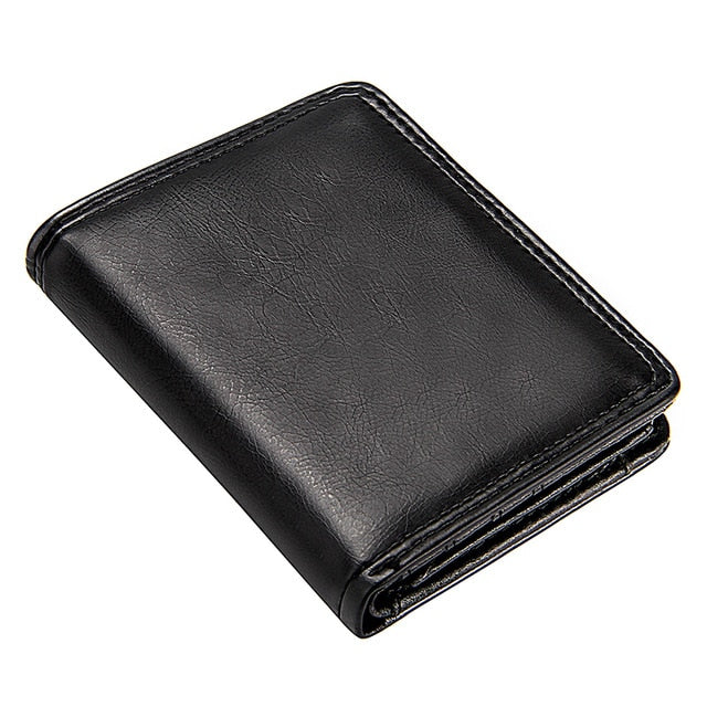 Business Men's Short Wallet Bifold Slim Card