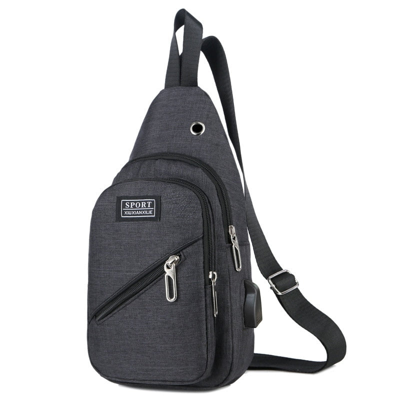 New Style Men's Canvas Chest Bag