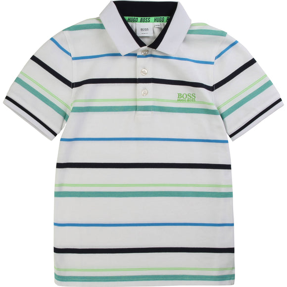 Hugo Boss Polo White Stripe