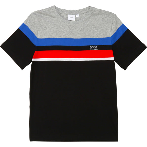 Hugo Boss Kid Boy Short Sleeve Stripe Tee