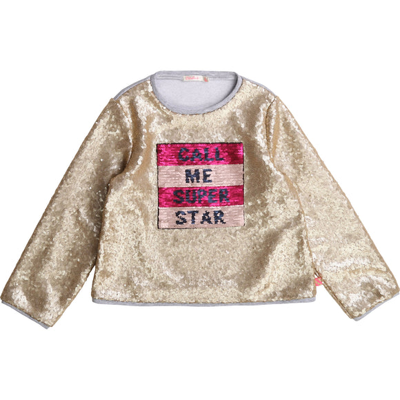 Billiblush Girl Sequin Sweatshirt