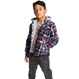 Appaman Kid Boy Hooded Flannel Shirt