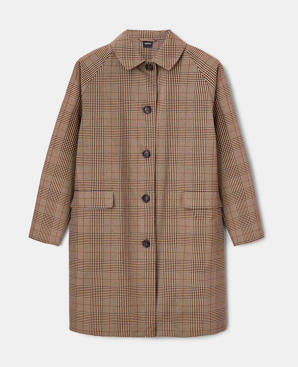 Checked Overcoat - Galles Marrone