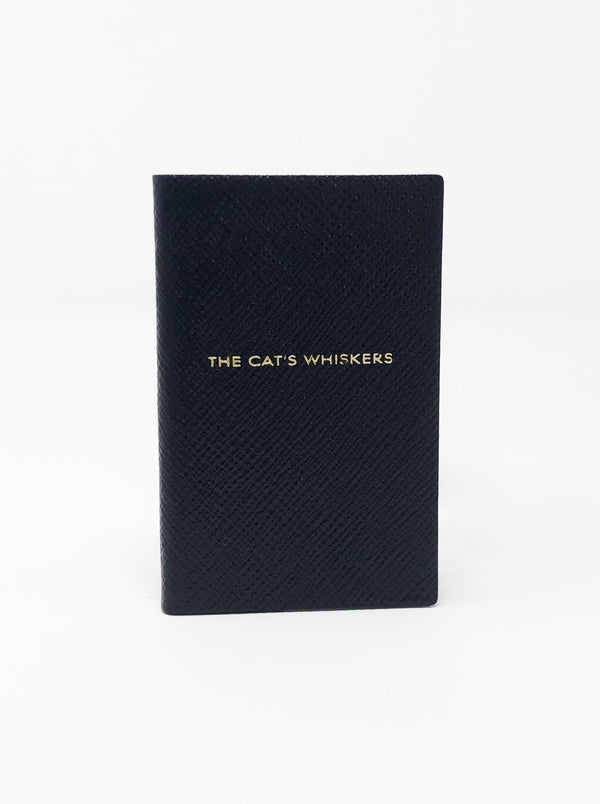 Smythson - The Cat's Whiskers Mini Notebook - Navy Blue - Notebooks - Boboli Vancouver Canada