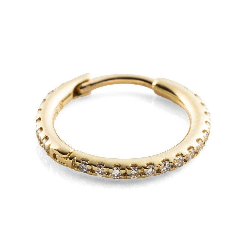 Diamond Hoop Earring L - Gold