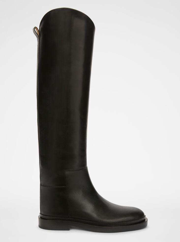 Jil Sander - Black High Boot - Shoes - Boboli Vancouver Canada
