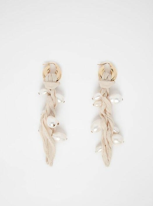 Jil Sander - Oyster Torchon Earrings - Earrings - Boboli Vancouver Canada