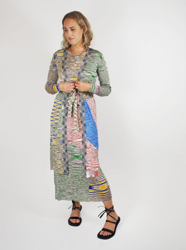 Missoni - Long Cardigan - Space Dye Multi - Sweaters - Boboli Vancouver Canada
