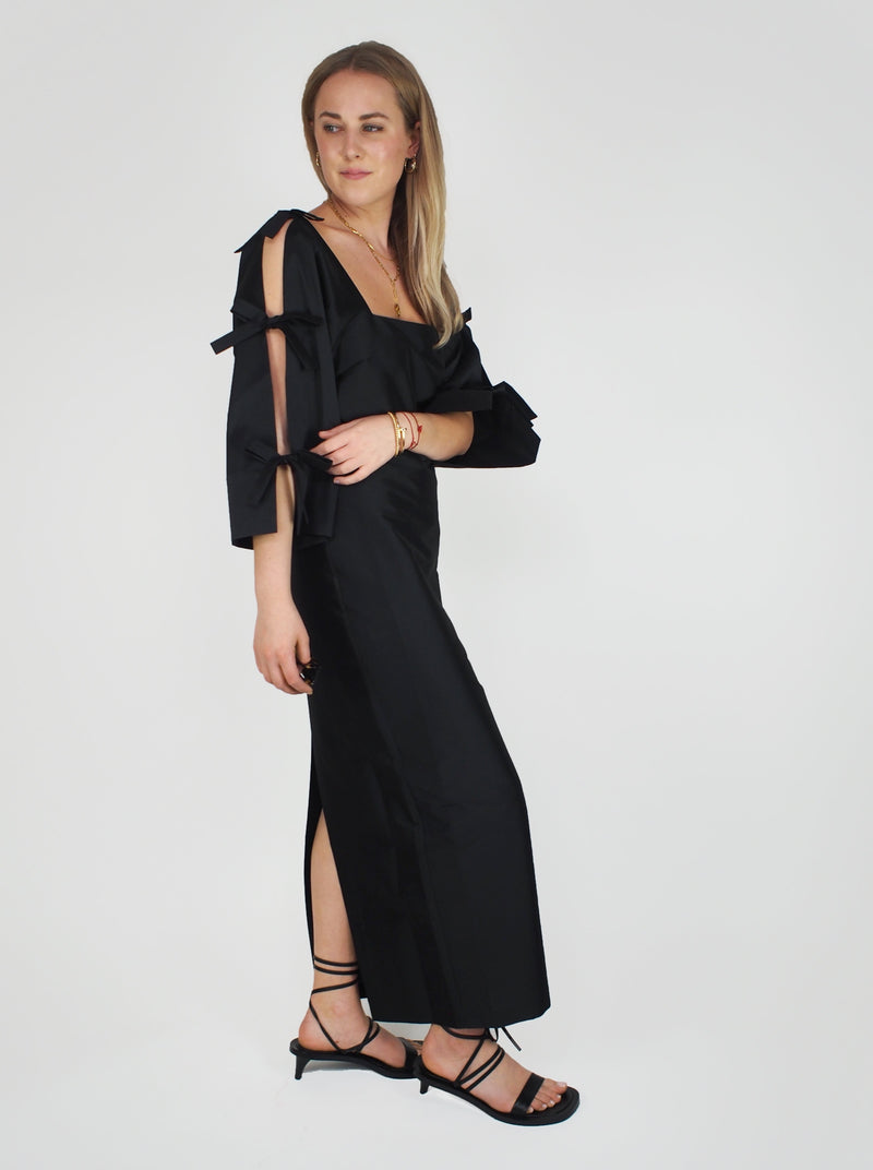 Chloe Taffetta Dress - Black