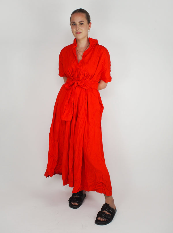 Aria Washed Dress - Red