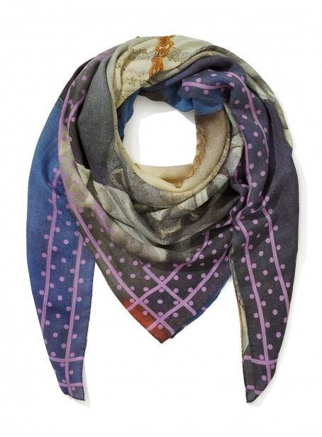 "Bronzino ""Pure Magic"" Cashmere Scarf - Blue"