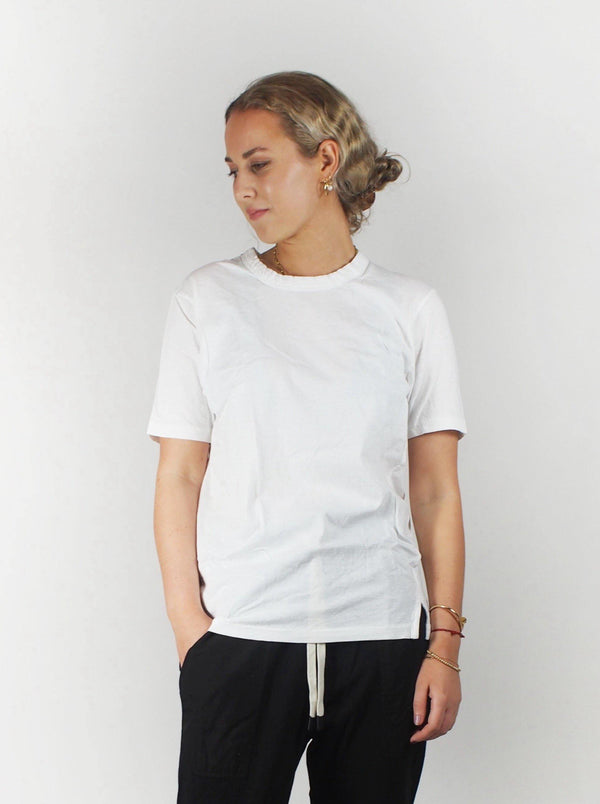Bassike - S/S Wide Heritage T-Shirt - White - T-Shirts - Boboli Vancouver Canada