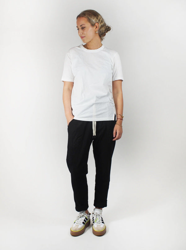 Contrast Tapered Pant - Black