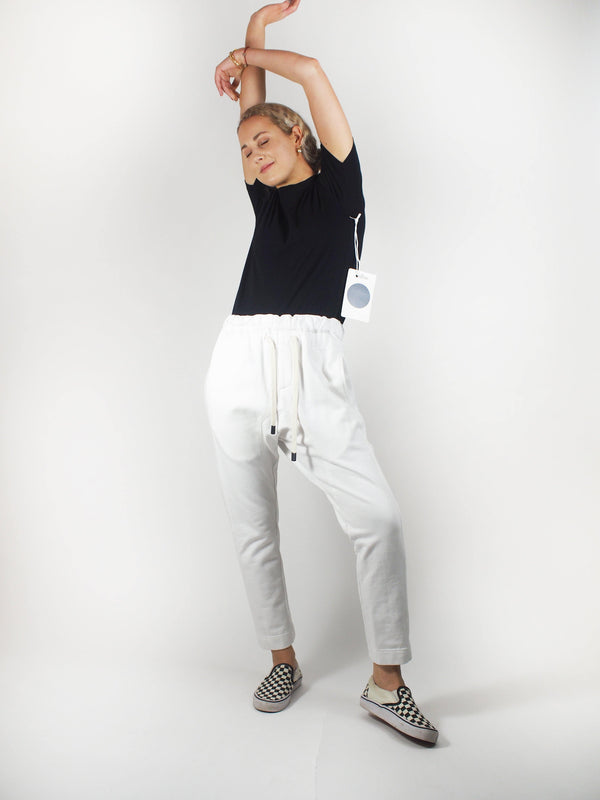 Fleece Relaxed Pant - White