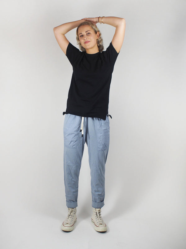 Contrast Tapered Pant - Washed Denim