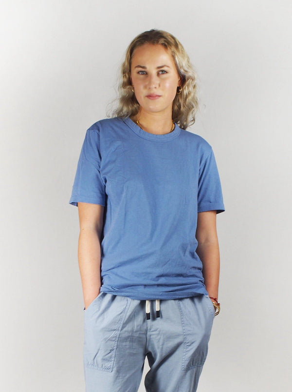 S/S Wide Heritage T-Shirt - Washed Denim