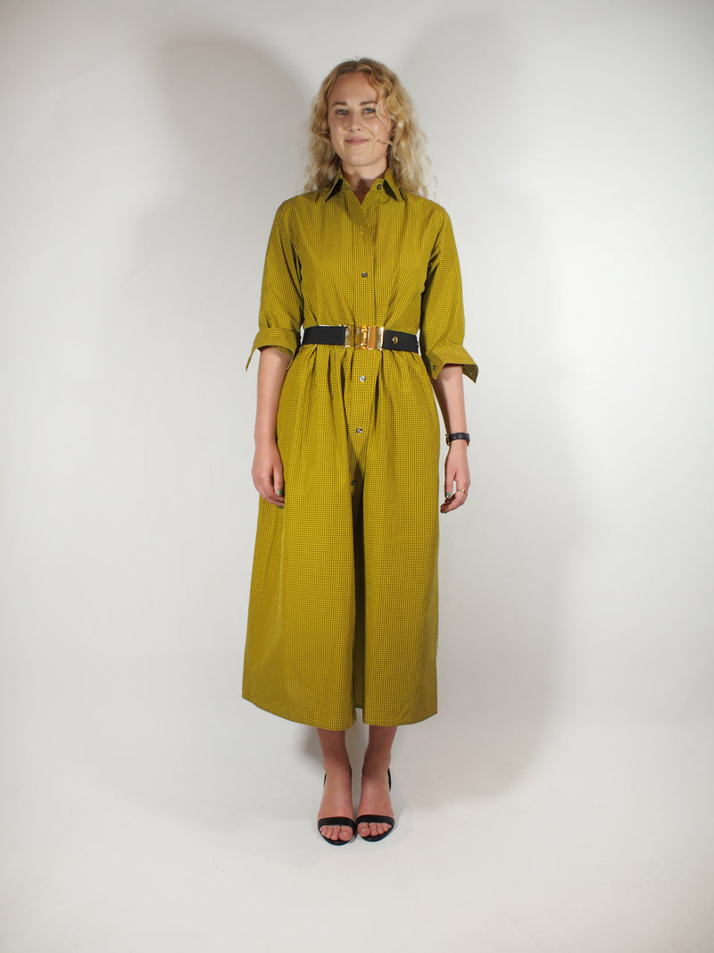 Check Full Skirt Shirtdress
