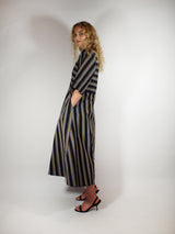Multi Stripe Cotton Dress