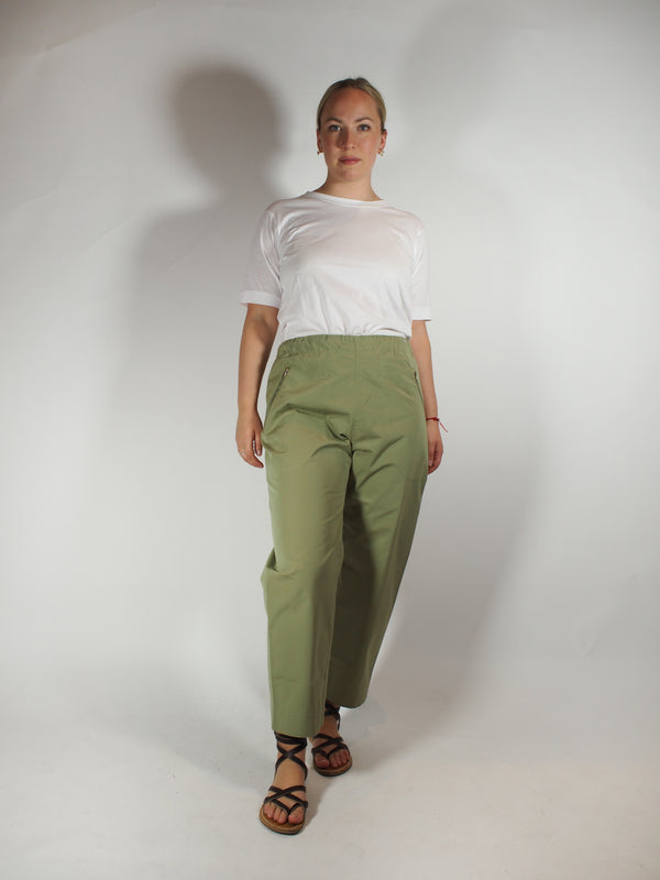 Cotton Taffeta Pant / Zip Pocket Pant