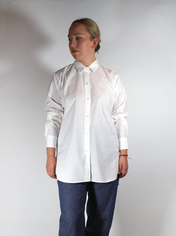 Classic Long Cotton Poplin Shirt