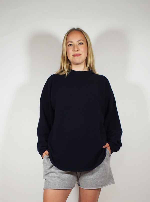 Crew Hop long sleeve Cashmere Crew - navy blue