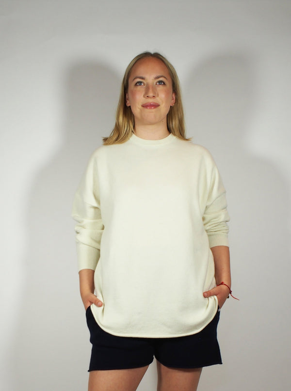 Crew Hop long sleeve Cashmere Crew - Cream