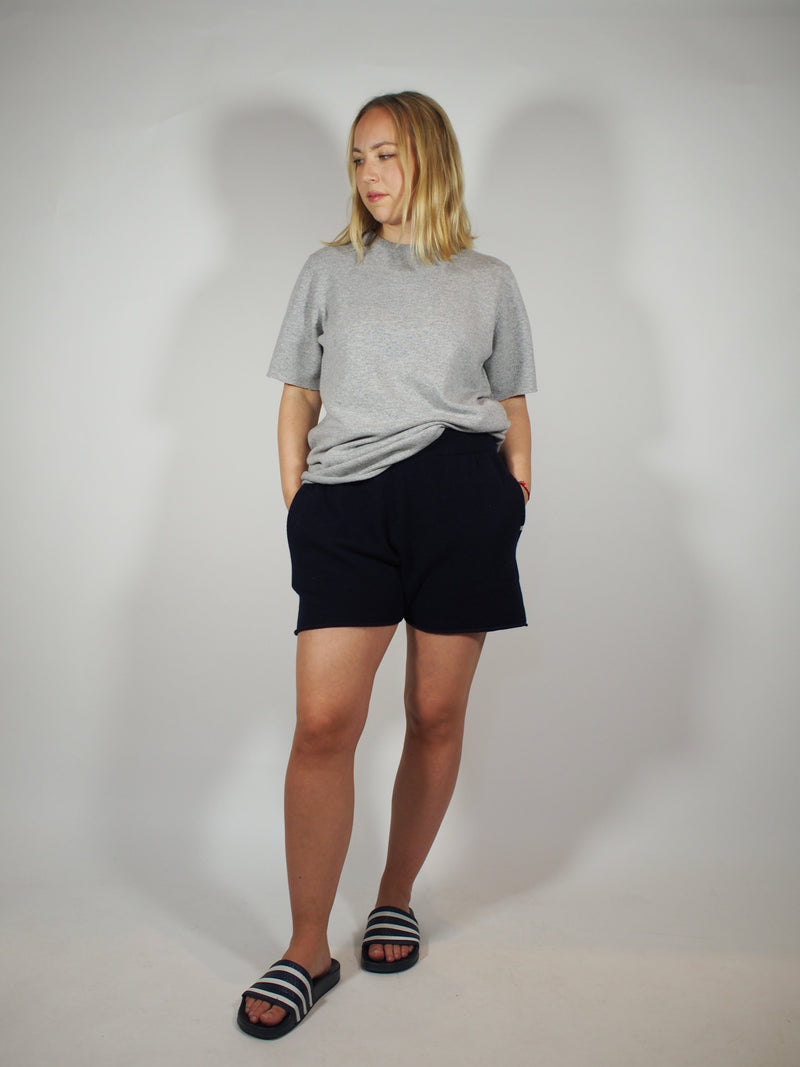 Cashmere Short Sleeve Tee - Grey