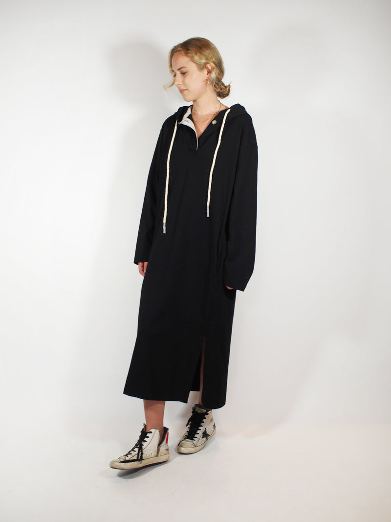 Double Jersey L/S Hooded Dress