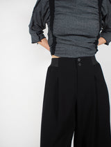 Stretch Wide Leg Pant - Black