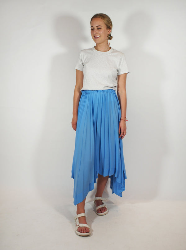 Parasol Pleats Skirt - Sky