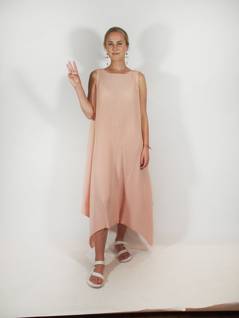 Cuddle Pleat Dress and Jacket - Pink