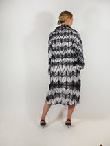 Itajime (Tie Dye) Tunic Dress - Black