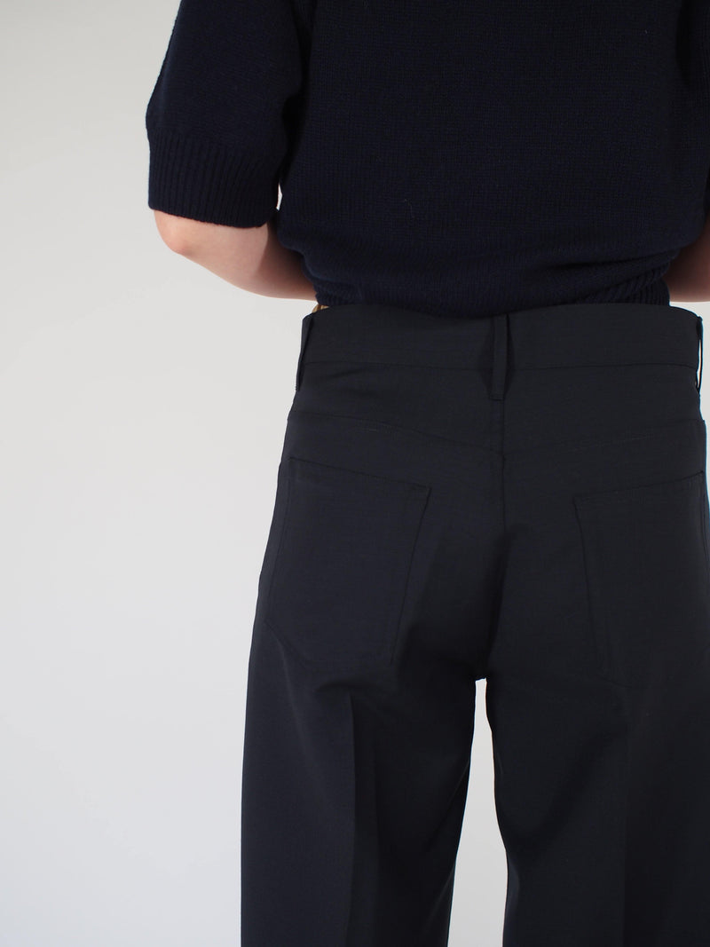 Murphy 5 Pocket Tropical Wool Pant - Navy Blue