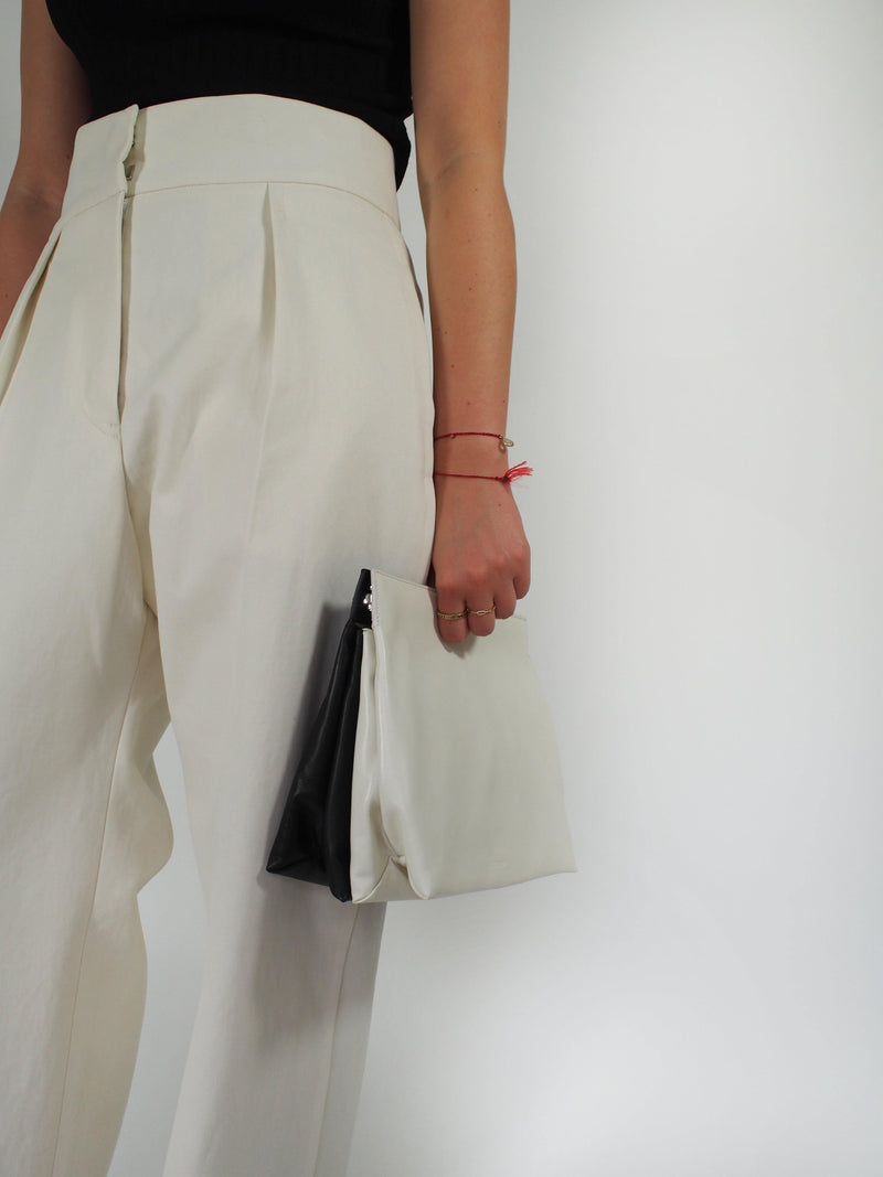 Tone Folded Clutch - White