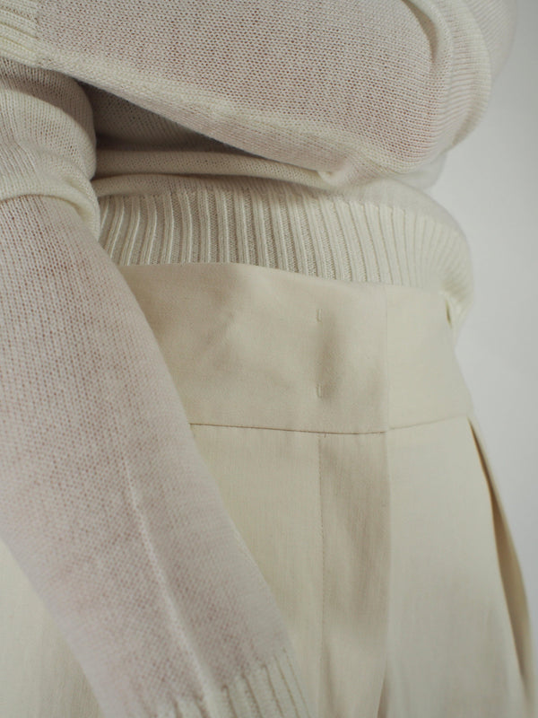 LS Extrafine Wool Sweater - Off White