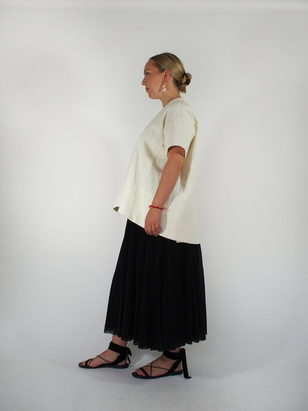 Double Tulle Skirt - Black