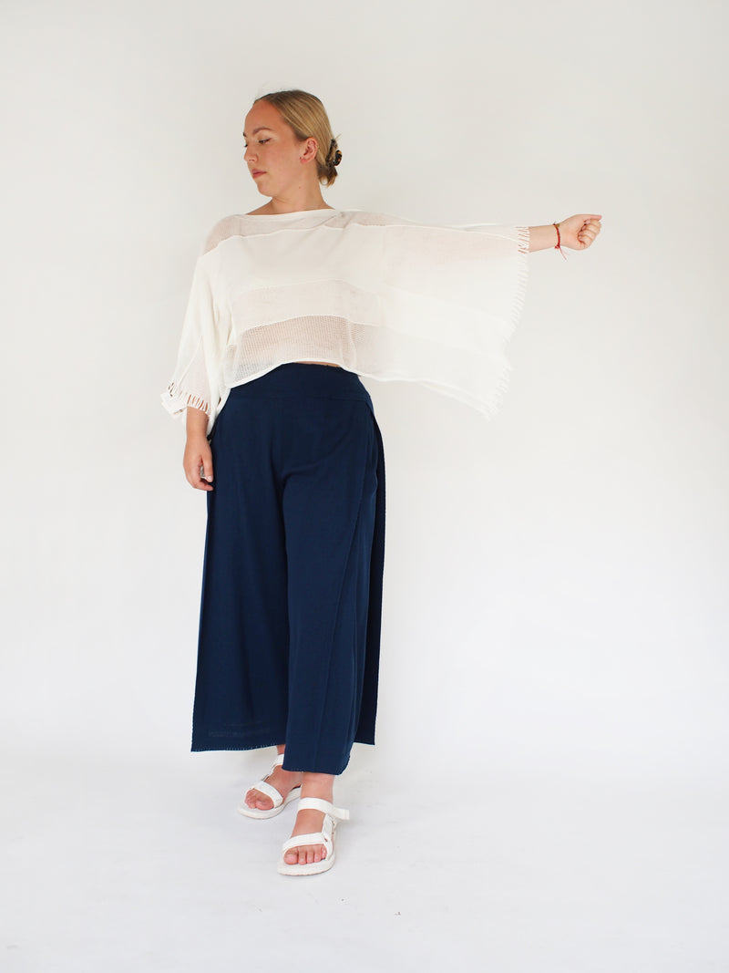 APOC Shrug/ Short Knit Top - White