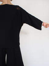 APOC Cotton Blend S/S Sweater - Black