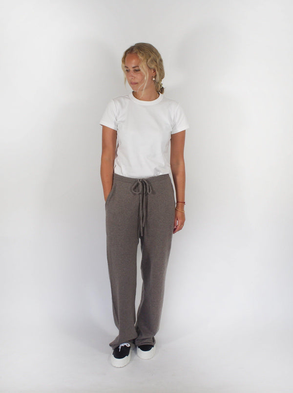 Run Drawstring Pant - Taupe