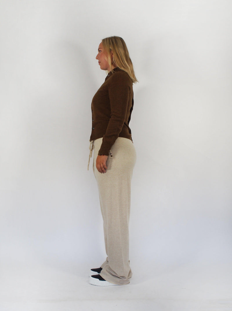 Extreme Cashmere - Little Game Convertible Cardigan - Rust - Sweaters - Boboli Vancouver Canada