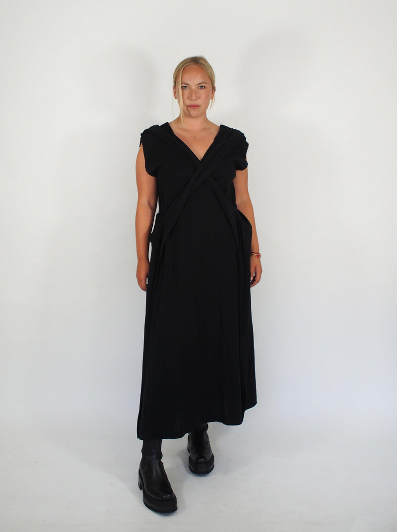 Crossed Apoc Dress - Black