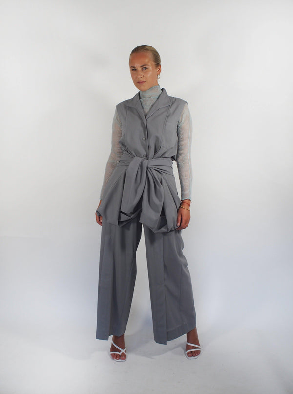Light Wool Gauze Pant - Grey