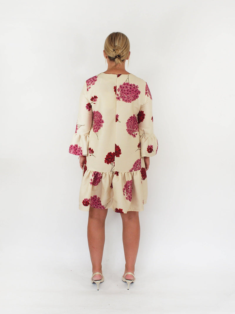 24/7 Wool Cady Hydrangea Dress