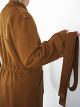 """Kaelan"" Double Faced Cashmere Coat - Congac"
