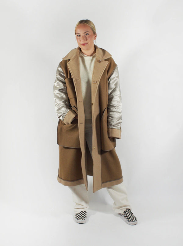Tanaka - Double Faced Reversible Coat - Camel - Coats - Boboli Vancouver Canada