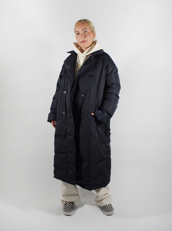Tanaka - Down Trench Coat - Navy Blue - Coats - Boboli Vancouver Canada